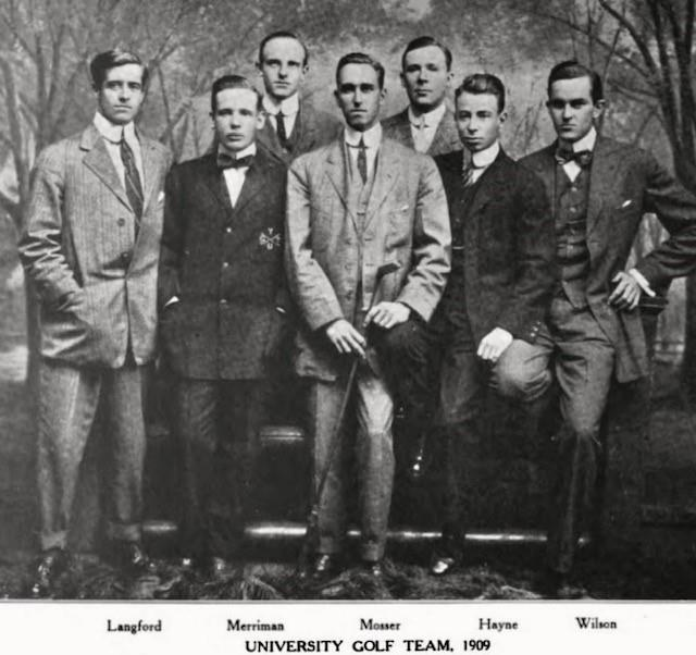 William_Langford_and_championship_Yale_golf_team